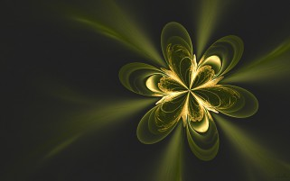 Green & Golden Blossom Fractal wallpapers and stock photos