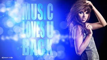 Music Loves You Back wallpapers and stock photos
