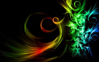 Rainbow Swirls Abstract wallpapers and stock photos