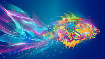 Abstract Fish Colorful wallpapers and stock photos