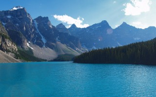 Moraine Lake Alberta Banff wallpapers and stock photos