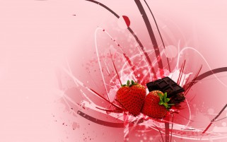 Strawberrys & Chocolate wallpapers and stock photos
