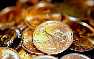 One Dollar Coins wallpapers and stock photos