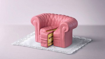 Random: Pink Cake Couch