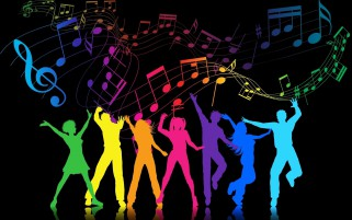 Colorful Party People wallpapers and stock photos