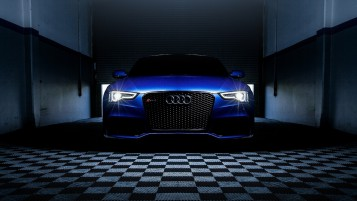 Blue Audi RS5 Headlights wallpapers and stock photos