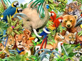 Jungle Animals One wallpapers and stock photos