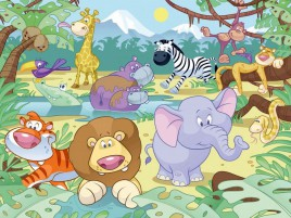 Jungle Animals Nine wallpapers and stock photos