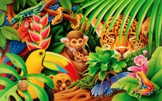 Jungle Animals Twenty One wallpapers and stock photos