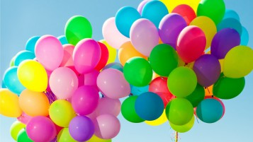 Colorful Balloons in the Sky wallpapers and stock photos