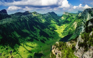 Justis Valley Switzerland wallpapers and stock photos