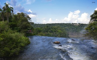 Iguaza Falls Lookout wallpapers and stock photos