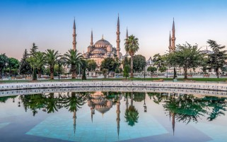 Sultan Ahmed Mosque Istanbul wallpapers and stock photos
