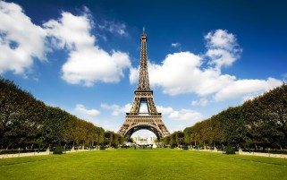 Eiffel Tower Three wallpapers and stock photos