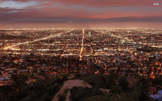 Los Angeles By Night wallpapers and stock photos