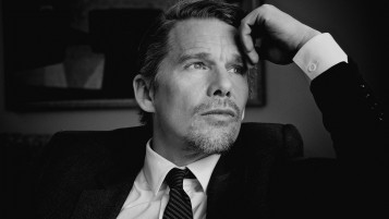 Ethan Hawke Black and White Close-up wallpapers and stock photos