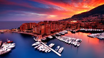 Sunrise in Monaco wallpapers and stock photos