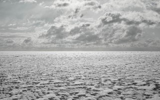 Frozen Tundra Clouds Grayscale wallpapers and stock photos