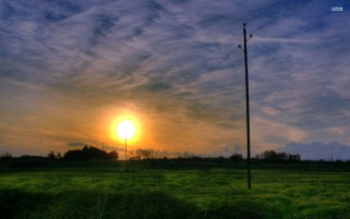 Extra Ordinary Sunset & Field wallpapers and stock photos