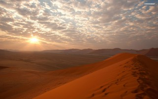 Beautiful Desert Trail Sunrise wallpapers and stock photos