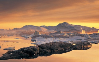 Disko Bay, Greenland wallpapers and stock photos
