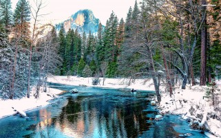 Amazing Blue River Yosemite wallpapers and stock photos