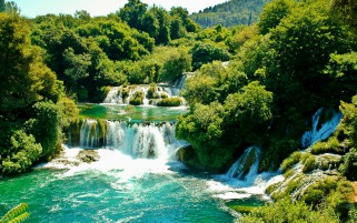 National Park Krka Croatia wallpapers and stock photos