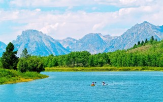 Snake River GrandTeton Wyoming wallpapers and stock photos