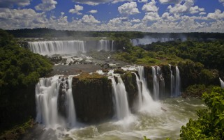 Wonderful Iguazu Falls Brazil wallpapers and stock photos