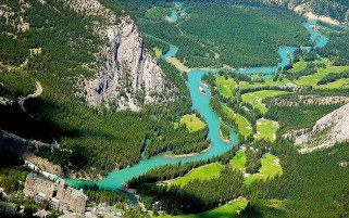 Wonderful Alberta Banff Aerial wallpapers and stock photos