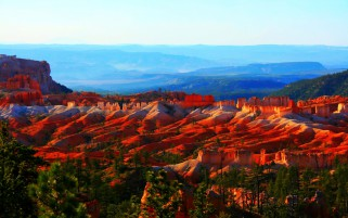 Fire Red Bryce Canyon wallpapers and stock photos