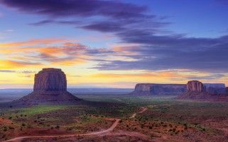 Purple Sky Over Canyon Utah wallpapers and stock photos