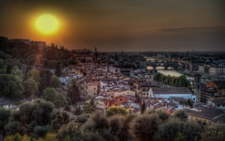 Pretty Florence Italy Sunset wallpapers and stock photos