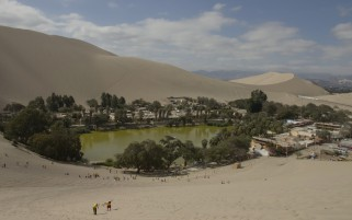Huacachina Oasis Desert Peru wallpapers and stock photos