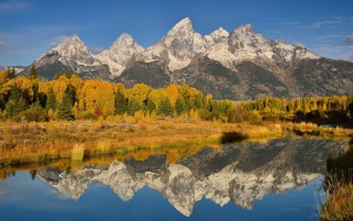 Mountain lake reflection wallpapers and stock photos