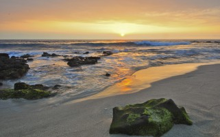 Random: Ocean Beach Rock Sunset Hawaii