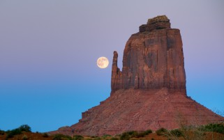 Luna Rock Mountain Arizona wallpapers and stock photos