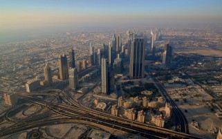 Dubai Aerial View wallpapers and stock photos