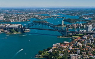 Pretty Aerial View Sydney wallpapers and stock photos
