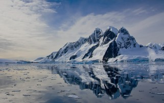 Mountains & Lake Antarctica wallpapers and stock photos