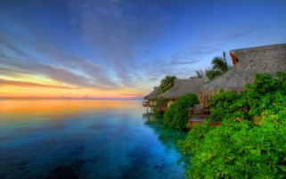 Moorea Island Pacific Ocean wallpapers and stock photos