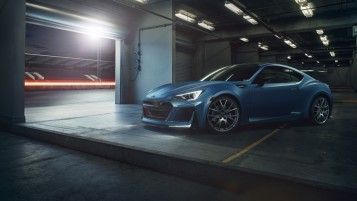Matte Blau Subaru BRZ wallpapers and stock photos