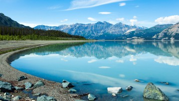 Reflection In The Yukon wallpapers and stock photos