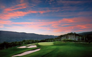 Random: Pretty Golf Courses Pink Sky