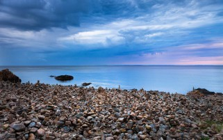 Ocean Stones Southern Sweden wallpapers and stock photos