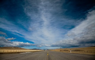 Road Fields Clouds Sky Canada wallpapers and stock photos