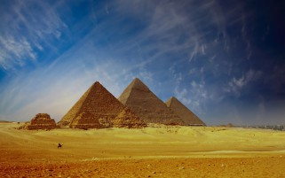 Pyramids Of Giza Cairo Egypt wallpapers and stock photos