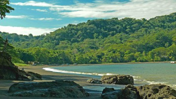 Jungle Ocean Rocks Costa Rica wallpapers and stock photos