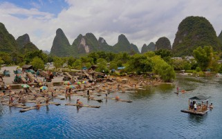 Guilin YangShuo Li River China wallpapers and stock photos