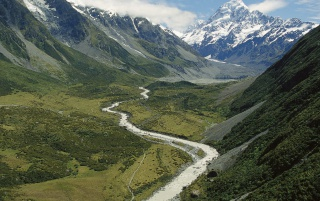 Hooker Valley wallpapers and stock photos
